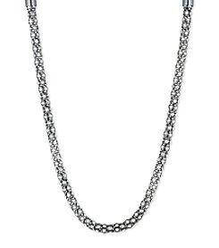 Anne Klein® Tubular Pave Collar Necklace