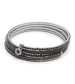 Anne Klein® Hematite Diamond Coil Bracelet