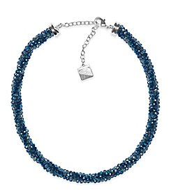 Anne Klein® Blue Beaded Collar Necklace