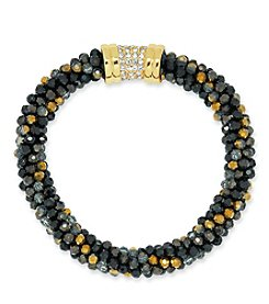 Anne Klein® Jet Beaded Bracelet