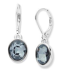 Anne Klein® Black Diamond Drop Earrings