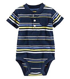 Carter's® Baby Boys' Striped Henley Bodysuit