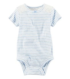 Carter's® Baby Girls' Lace Yoke Bodysuit