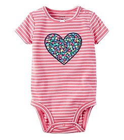 Carter's® Baby Girls' Floral Heart Bodysuit