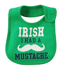 Carter's® Baby Boys' Irish I Had A Mustache Bib