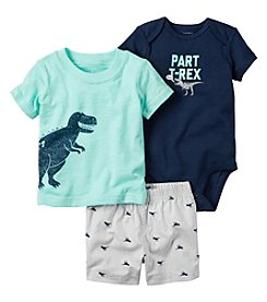 Carter's® Baby Boys 3-Piece Part T-Rex Shorts Set