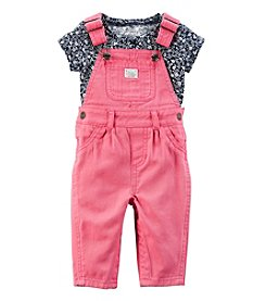 Carter's® Baby Girls' 2-Piece Floral Tee And Overalls Set