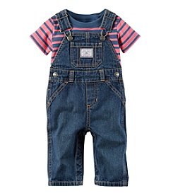 Carter's® Baby Boys 2-Piece Striped Tee And Overalls Set