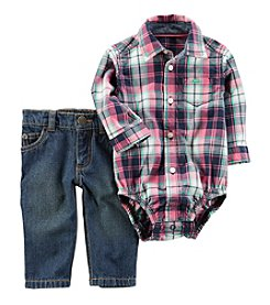 Carter's® Baby Boys' 2-Piece Plaid Bodysuit And Jeans Set