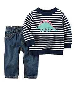 Carter's® Baby Boys 2-Piece Dino Sweater And Jeans Set