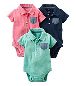 Carter's® Baby Boys 3-Pack Polo Bodysuits