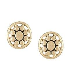 The Sak® Engraved Openwork Stud Earrings