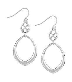 The Sak® Silvertone Teardrop Double Drop Earrings