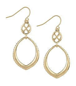 The Sak® Goldtone Teardrop Double Drop Earrings