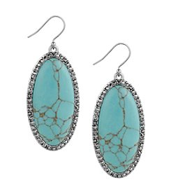 Lucky Brand® Large Oblong Turquoise Drop Earrings