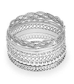 GUESS Set of Seven Bangle Bracelets