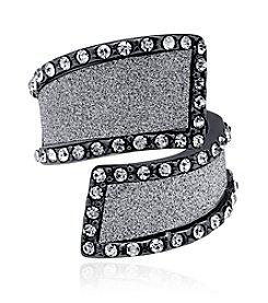 GUESS Bypass Glitter Crystal Accent Ring