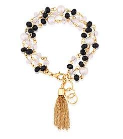 GUESS Stone Tassel Bracelet