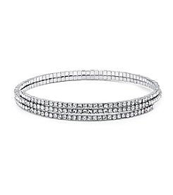 GUESS Crystal Choker Coil Necklace