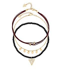 GUESS Three Piece Choker Necklace Set