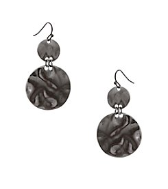 Erica Lyons® Hematite Graduated Disks Earrings