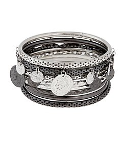 Erica Lyons® Bangle Stack Bracelet Set