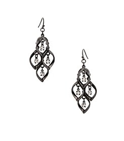 Erica Lyons® Hematite Shower Earrings