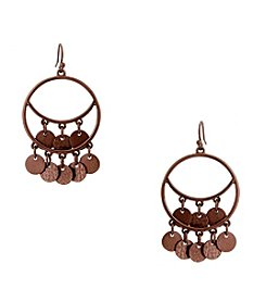 Erica Lyons® Chocolate Gypsy Hoop Earrings