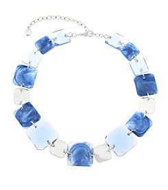 Gloria Vanderbilt™ Square Stone Collar Necklace