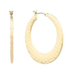 Gloria Vanderbilt™ Hammered Hoop Earrings