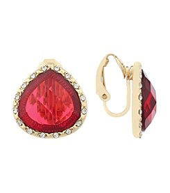 Gloria Vanderbilt™ Teardrop Clip Stud Earrings