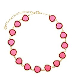 Gloria Vanderbilt™ Faceted Stone Collar Necklace