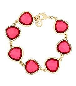 Gloria Vanderbilt™ Red Stone Flex Bracelet