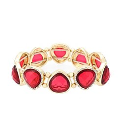Gloria Vanderbilt™ Red Stone Stretch Bracelet