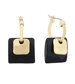 Gloria Vanderbilt™ Square Drop Hoop Earrings