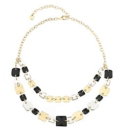 Gloria Vanderbilt™ Two Row Frontal Necklace