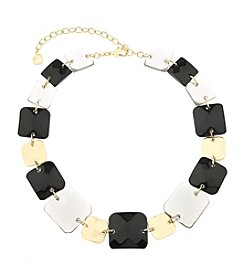 Gloria Vanderbilt™ Square Bead Collar Necklace