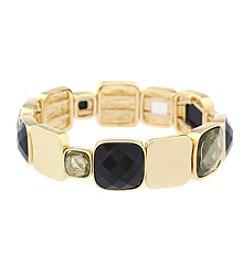 Gloria Vanderbilt™ Square Stone Stretch Bracelet