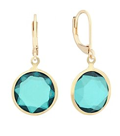 Gloria Vanderbilt™ Green Stone Drop Earrings