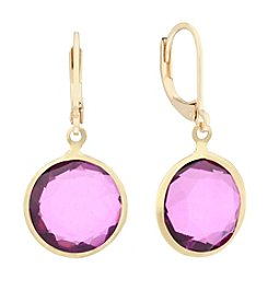 Gloria Vanderbilt™ Pink Stone Drop Earrings