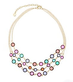 Gloria Vanderbilt™ Multicolor Frontal Collar Necklace