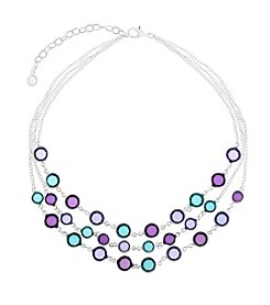 Gloria Vanderbilt™ Multicolor Frontal Necklace