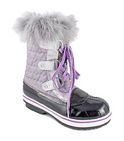 MIA® Girls' Lanie Quilted Snow Boots