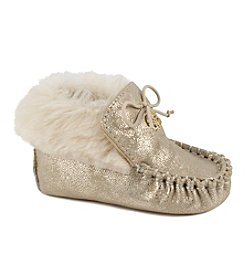 Jessica Simpson Girls' Royce Metallic Moccasins