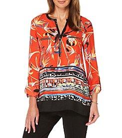 Rafaella® Floral Woven Shirt