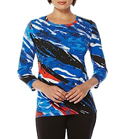 Rafaella® Zebra Print Knit Top