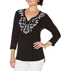 Rafaella® Embellished Knit Tunic