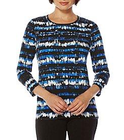 Rafaella® Tie Dye Printed Knit Top