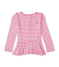 Ralph Lauren® Baby Girls' Striped Peplum Top