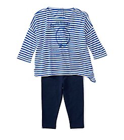 Ralph Lauren® Baby Girls' 2-Piece Marine Tee and Leggings Set